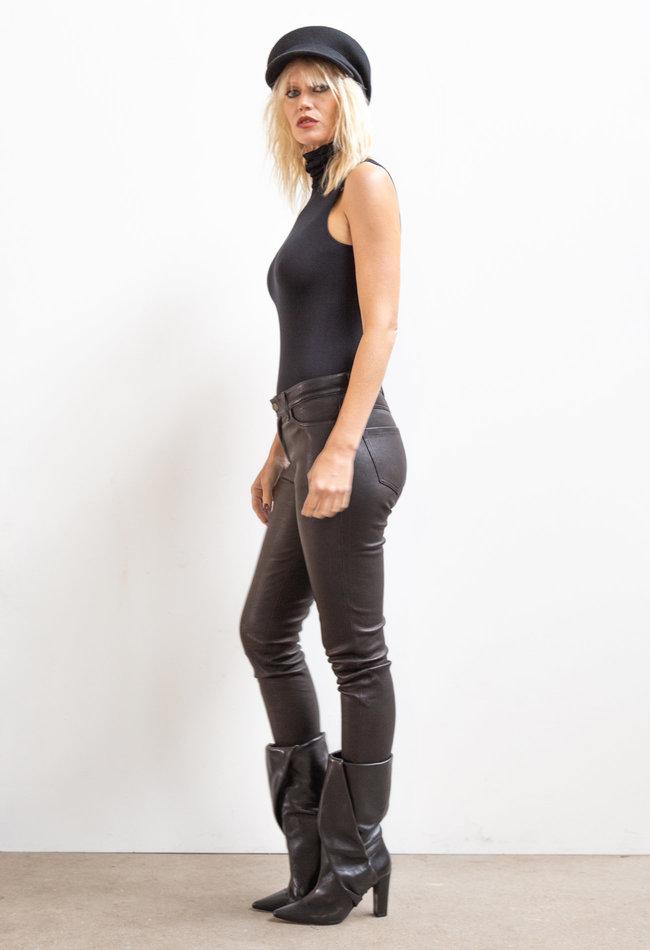 ZINGA Leather Echt lederhose damen Schwarz | Amalia 6999