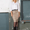 ZINGA Leather COCO 6101 stretch leather pencil skirt