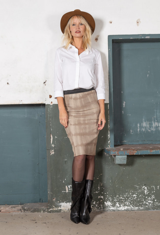 ZINGA Leather Echt leer kokerrok dames batik | Coco 6101
