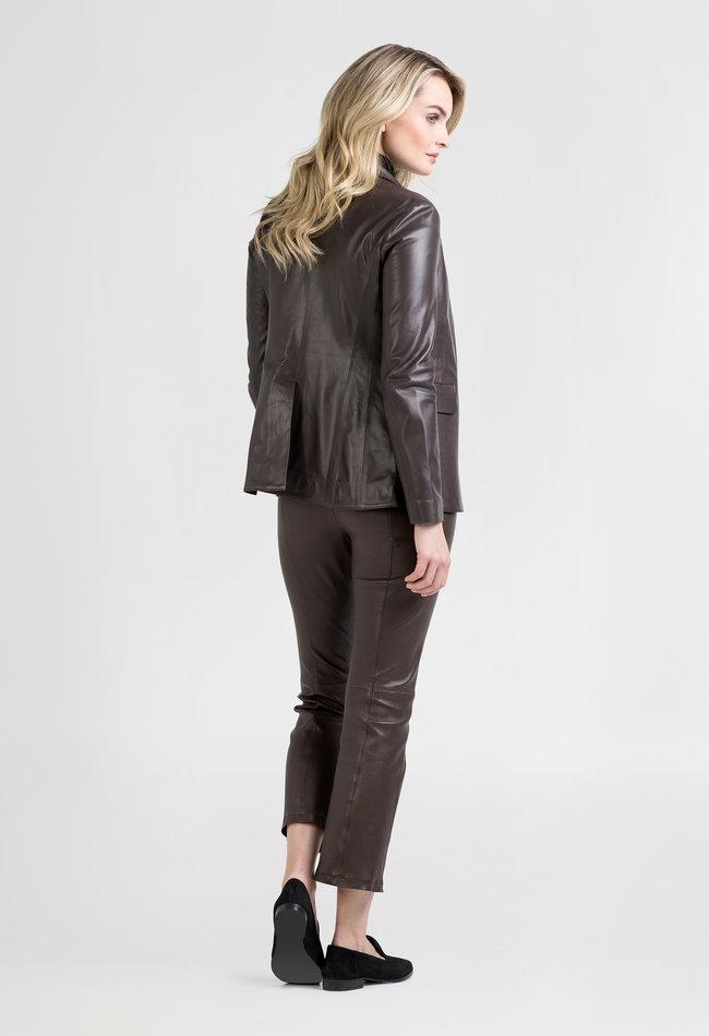 ZINGA Leather Damenlederblazer braun | Kate 5116