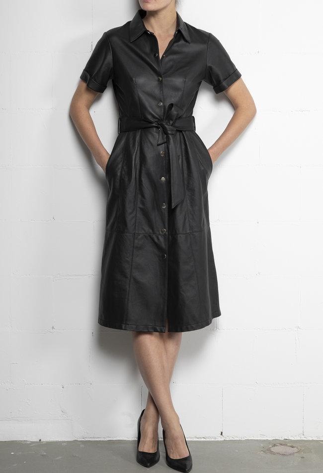 ZINGA Leather Dress real leather women black | Suze 5999