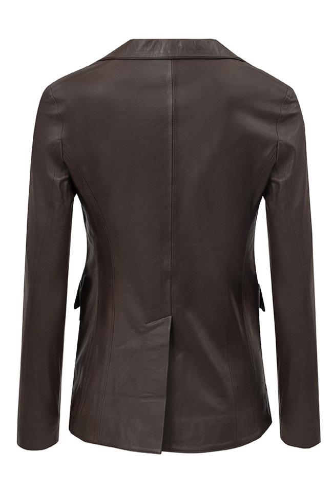 ZINGA Leather Echt leren damesblazer bruin | Kate 5116