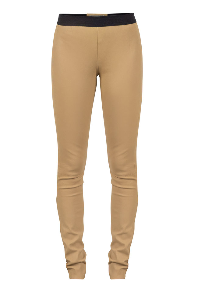 ZINGA Leather Echte Leder Leggings Frauen ecru | Uma 6334