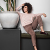 ZINGA Leather Boyfriend pants suede, real leather ladies taupe   Noah 4653