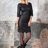 ZINGA Leather Echt Leder Kleid damen Schwartz | Ava 6999