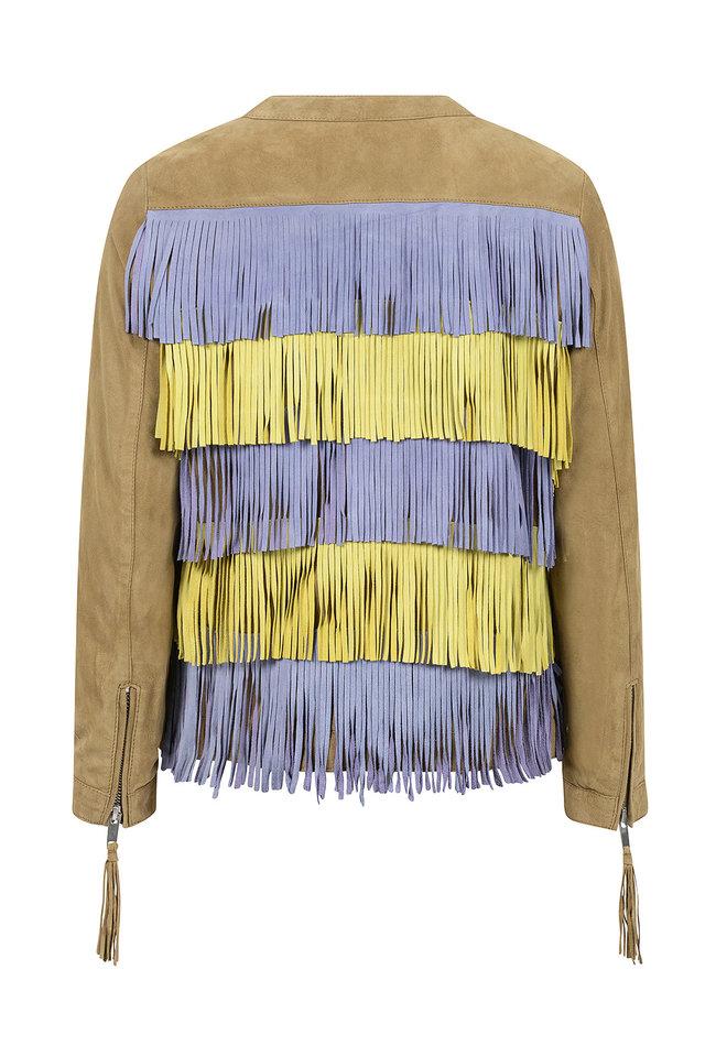 ZINGA Leather Damenjacke aus echtem Leder, Wildleder grün   Engel 2929