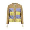 ZINGA Leather Genuine leather, suede ladies jacket green   Angel 2929