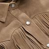 ZINGA Leather Echt leer, suede blouse dames ecru | Keira 2334