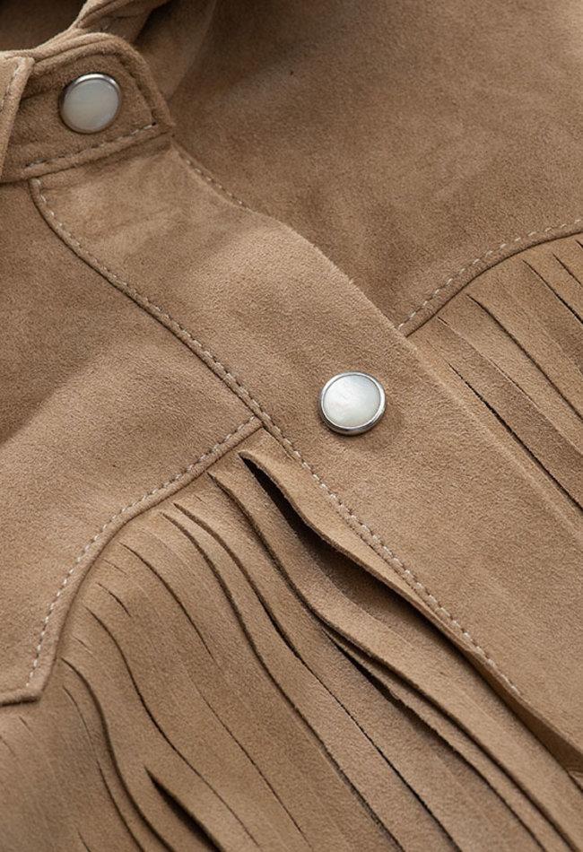 ZINGA Leather WILDLEDERHEMD DAMEN IN ECRU | KEIRA 2334