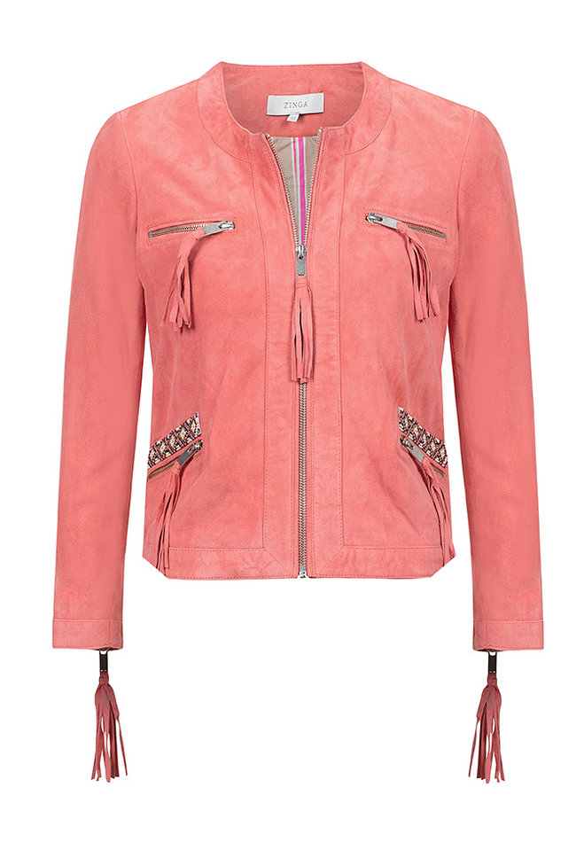 ZINGA Leather Genuine leather, suede ladies jacket | Blackbird 2640