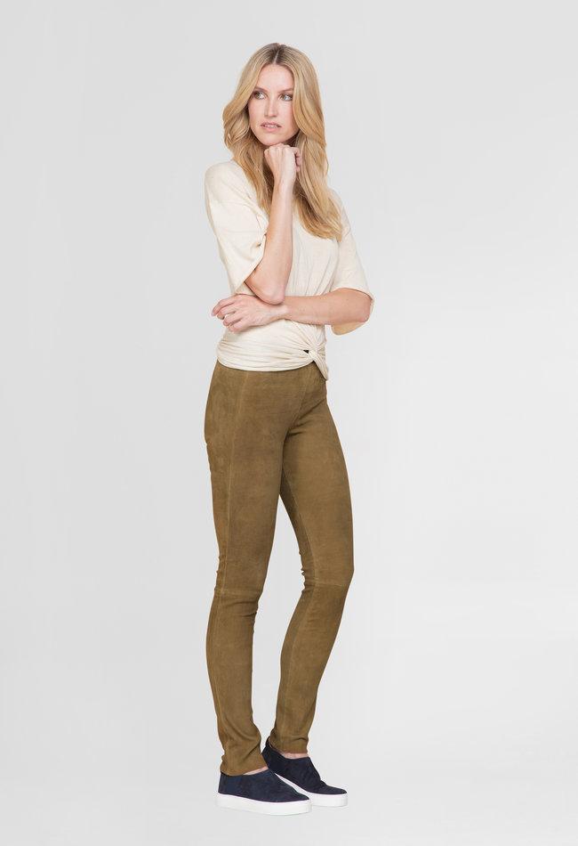 ZINGA Leather Echt leren suède legging dames | Uma 4330