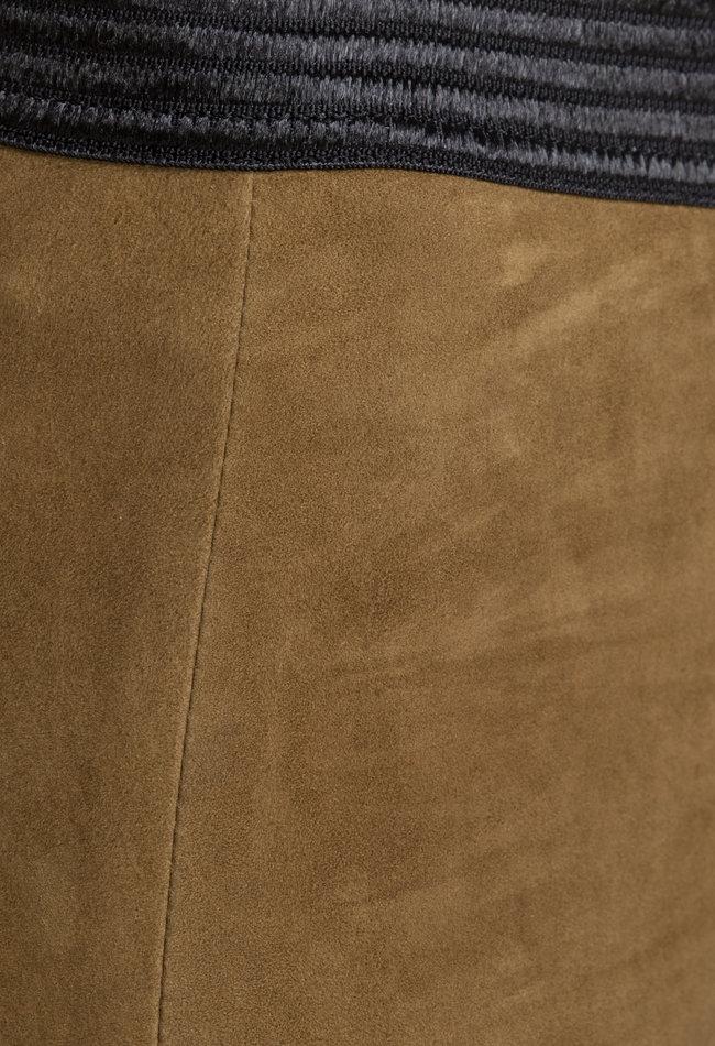 ZINGA Leather VELOURSLEDER LEGGINGS IN BRAUN AUS LAMMVELOURS   UMA 4330