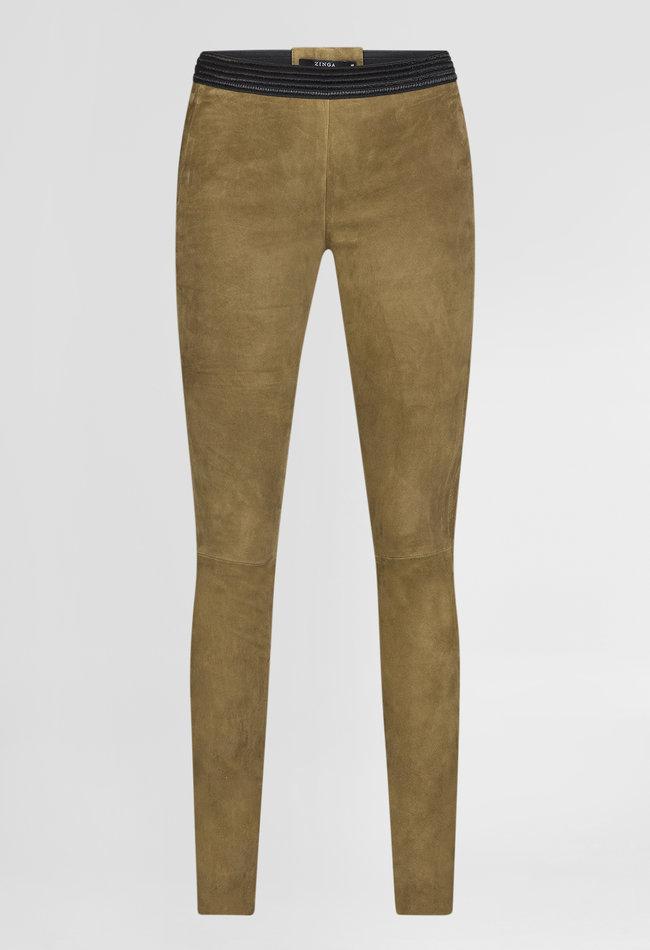 ZINGA Leather Real leather suede leggings ladies | Uma 4330