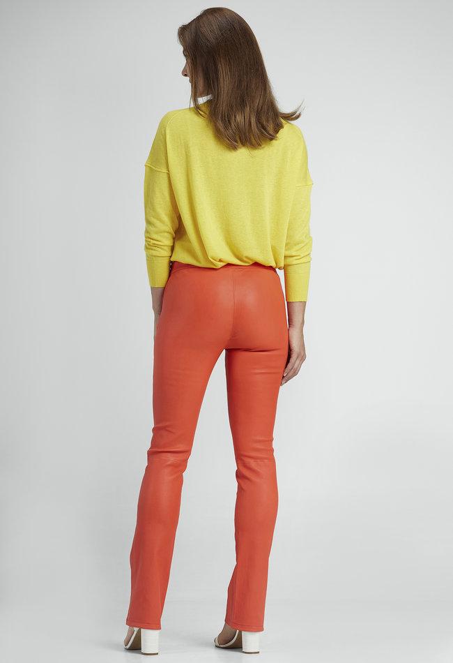 ZINGA Leather Real leather leggings ladies red | Gaby 6563