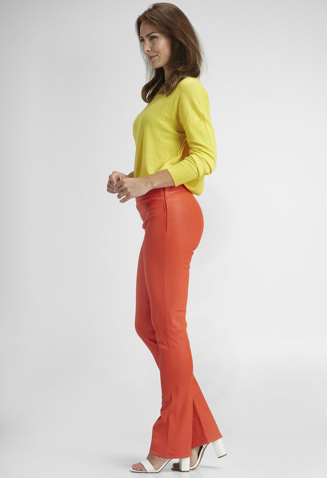 ZINGA Leather Echt leer legging dames rood |Gaby 6563