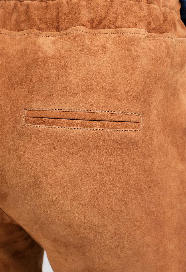 ZINGA Leather LEDER SCHLUPFHOSE DAMEN COGNAC   VELOURSLEDER   NOAH 4400