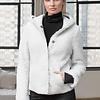 ZINGA Leather Echt Leder Lammfell Mantel Damen Weiss | Pam 8300