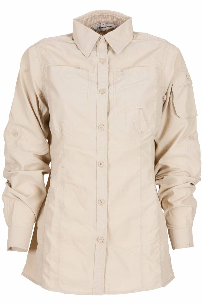 Dames Overhemd.Leiston Anti Insect Blouse Dames In De Kleur Beige Life Line