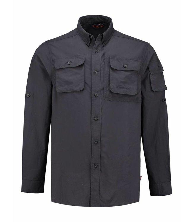 Life-Line Guide Heren Overhemd - Donkergrijs