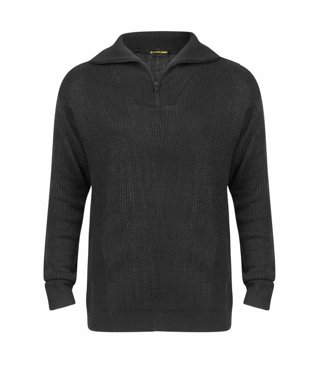 Life-Line Starboard Mens Sweater - Black