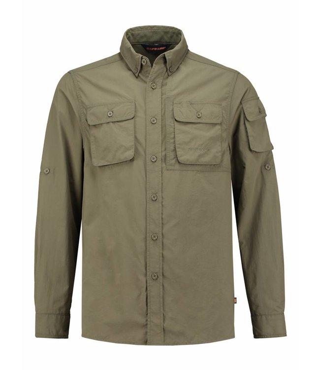 Life-Line Guide Heren Overhemd - Groen