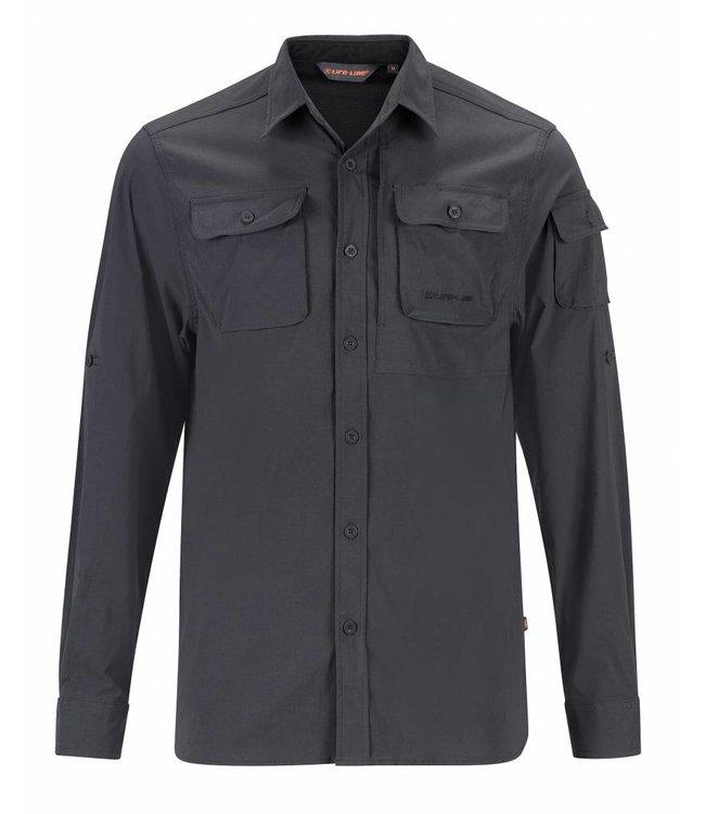Life-Line Jowan Heren Overhemd - Donkergrijs