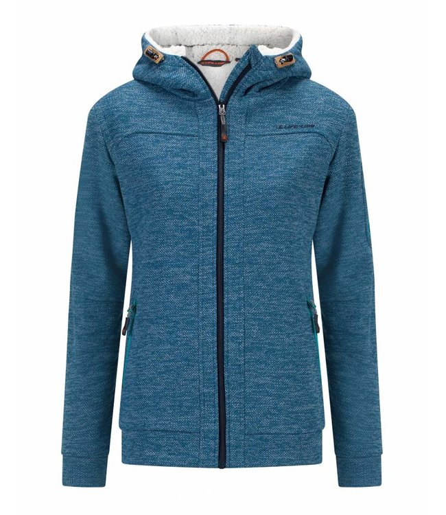 Fleece Trui Dames.Rubra Gevoerde Fleece Vest In Blauw Dames Life Line