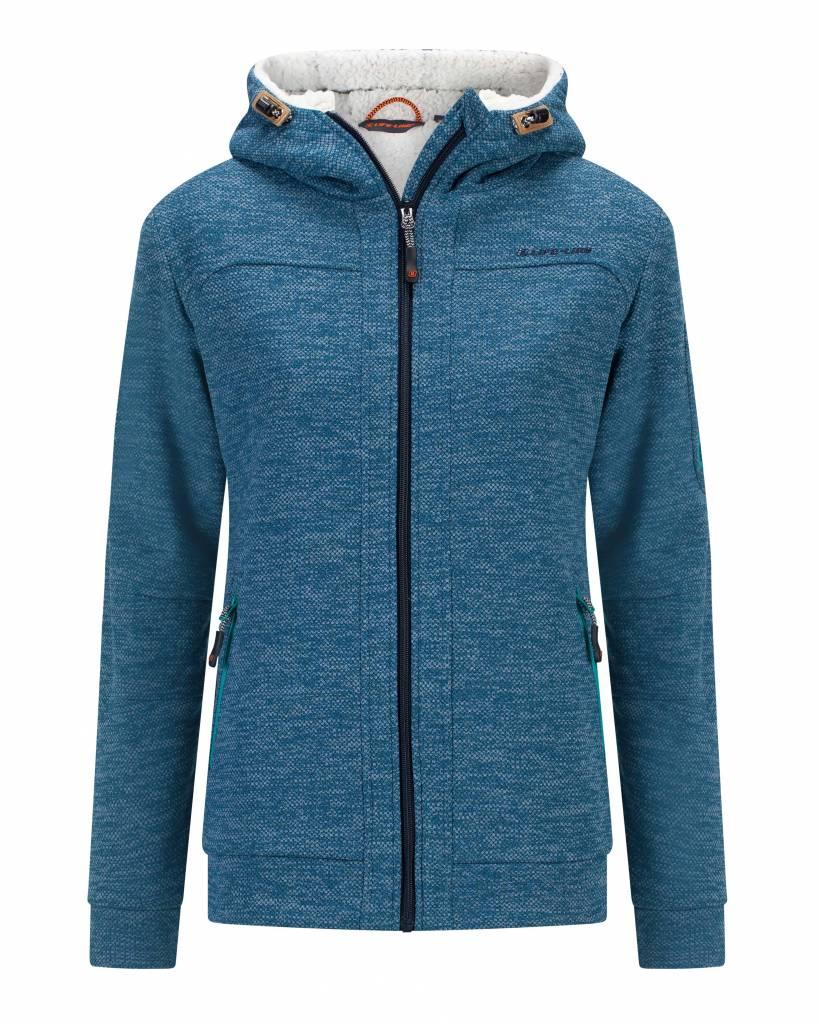 Rubra Gevoerde Fleece Vest in Blauw Dames