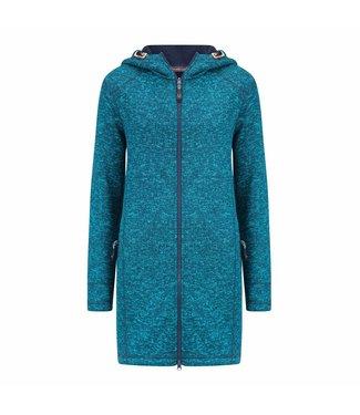 Life-Line Repanda Dames Fleece Parka - Turkoois