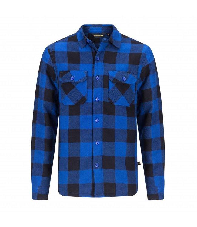 Life-Line Joris Heren Gevoerd Hemd - Blauw