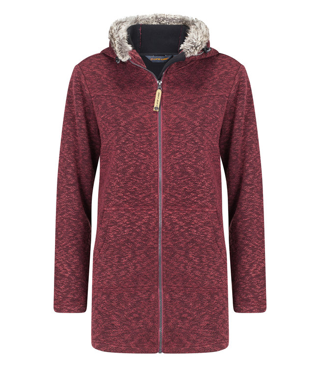 Life-Line Tauri Dames Fleece Parka - Rood