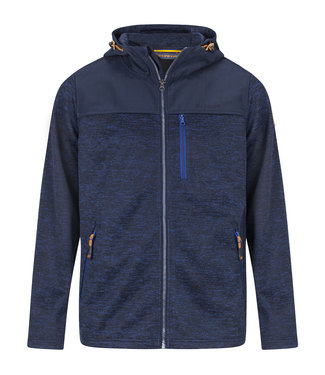Life-Line Knuset Mens Fleece Jacket - Blue