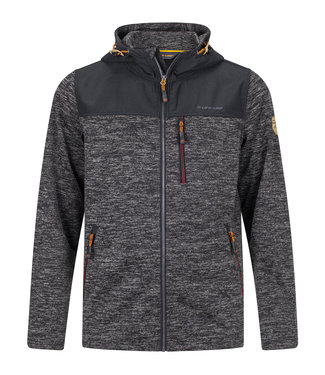 Life-Line Knuset Mens Fleece Jacket - Black