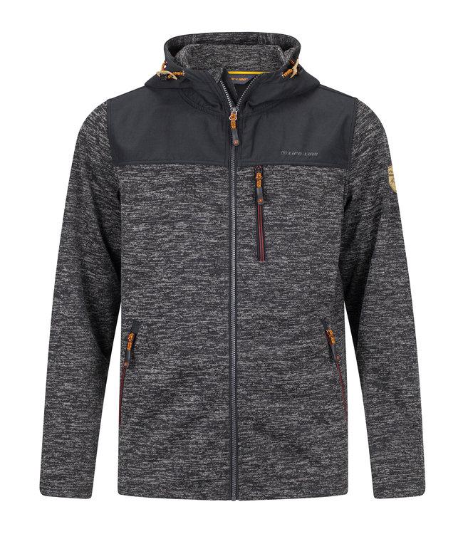 Life-Line Knuset Mens Fleece Jacket - Black
