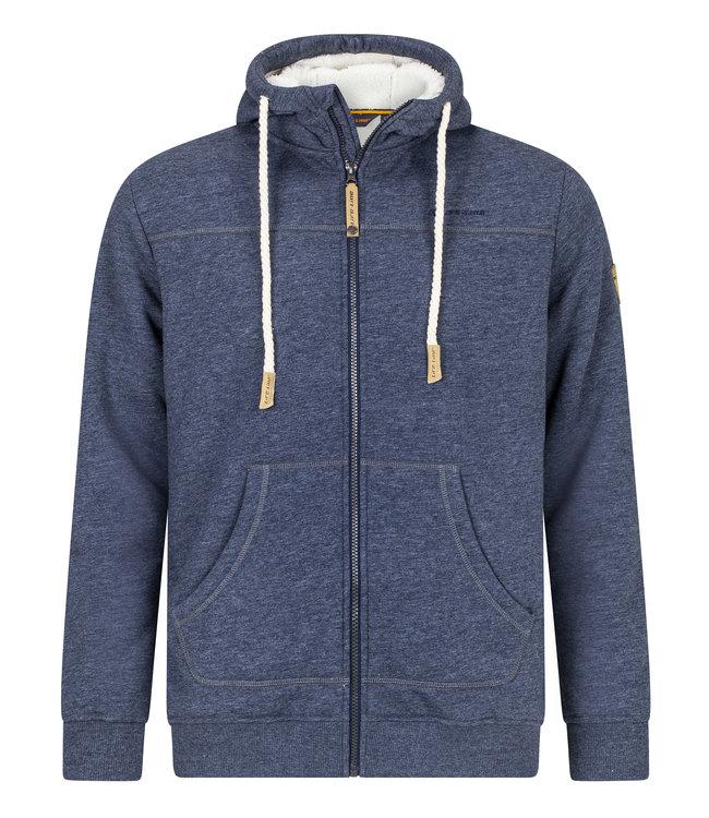 Life-Line Khido Heren Gevoerde Sweater - Donkerblauw