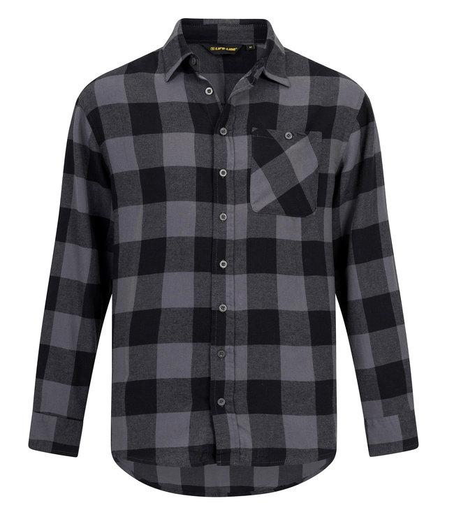 Life-Line Harry Mens Longsleeve Shirt - Grey
