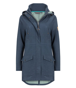 Life-Line Atabe Ladies Lined Softshell Parka - Blue