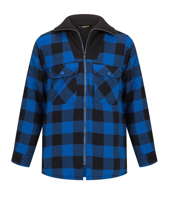 Life-Line Peter Men's lined Flannel vest - Blue