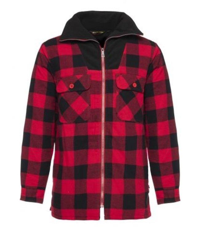 Life-Line Peter Men's lined Flannel vest - Red