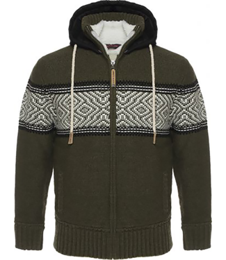 Life-Line Morris Mens Sweaterjacket - Green