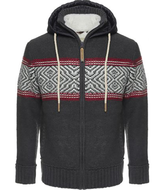 Life-Line Morris Mens Sweaterjacket - Grey