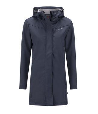 Life-Line Baslow Solid Damen Softshell Parka - Grau Blau