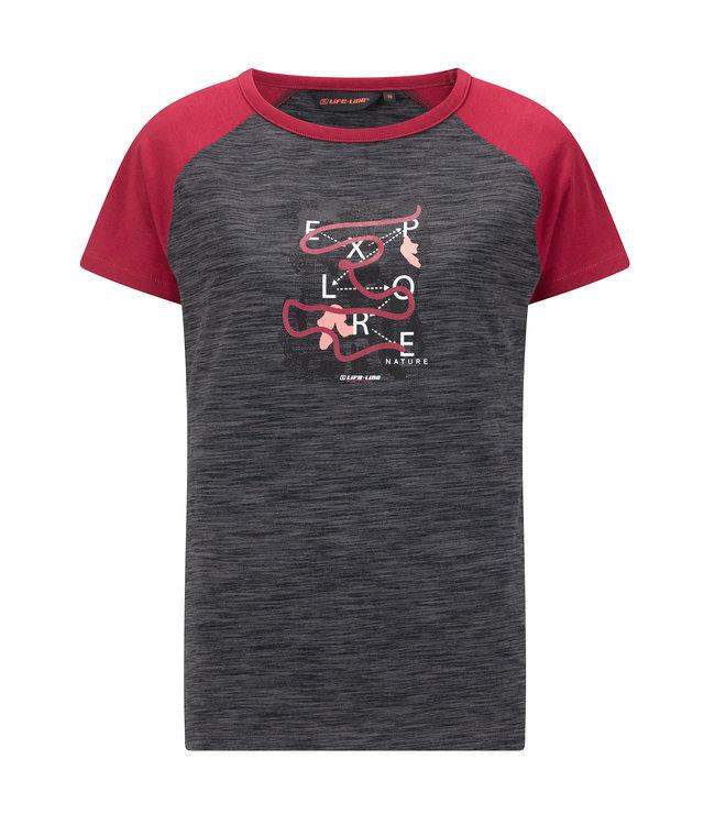 Life-Line Crich Damen T-Shirt Kurzarm - Dunkelgraue
