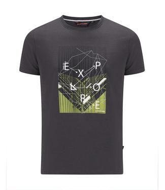 Life-Line Otley Herren T-Shirt Kurzarm - Dunkelgrau
