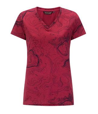 Life-Line Chardy Ladies T-shirt Shortsleeve - Dark pink