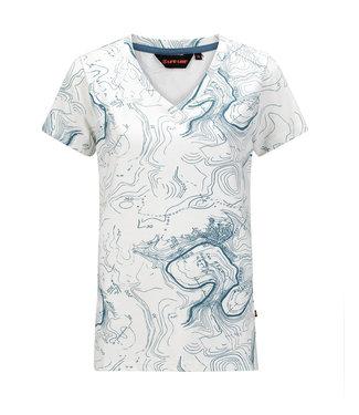 Life-Line Chardy Damen T-Shirt Kurzarm - Weiß Blau