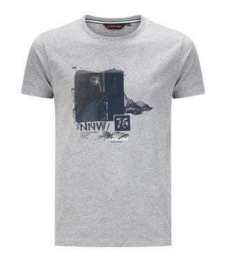 Life-Line Oundle heren T-shirt korte mouw - Grijs