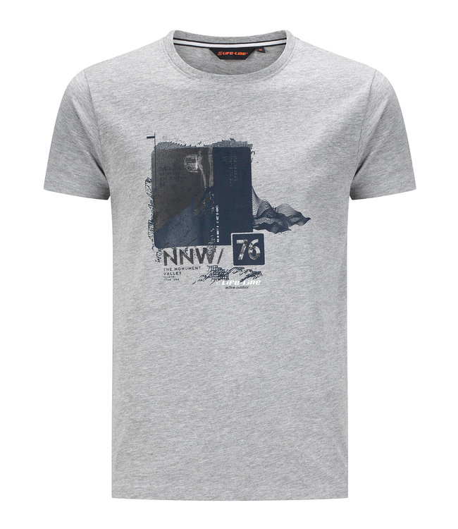 Life-Line Oundle Herren T-Shirt Kurzarm - Graue