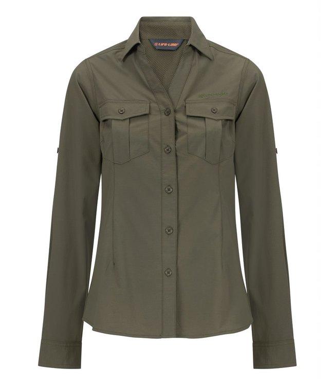 Life-Line Margate dames overhemd - Groen