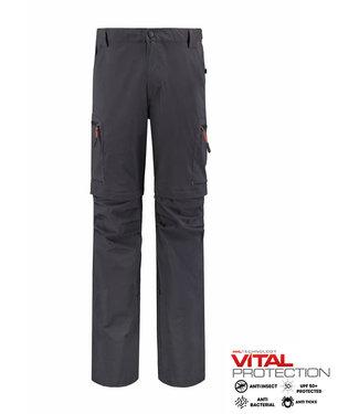 Life-Line Mekong Men's Zip Pants - Dark grey